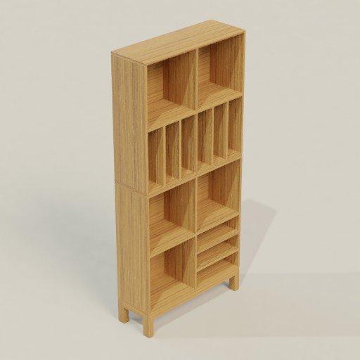 Thumbnail: Rack Shelving Bookcase 100 x 35 x 100