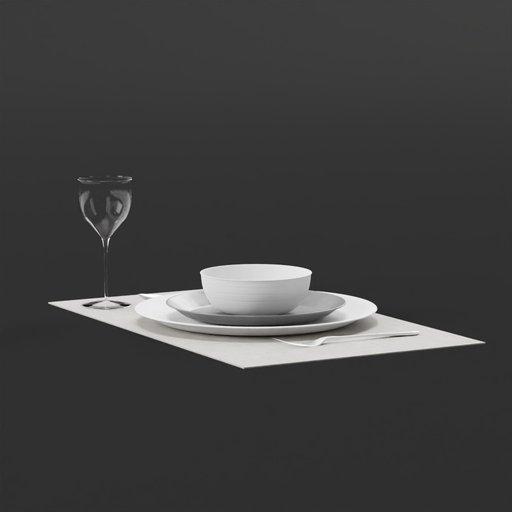 Thumbnail: Dining Set Bowl and Stuff