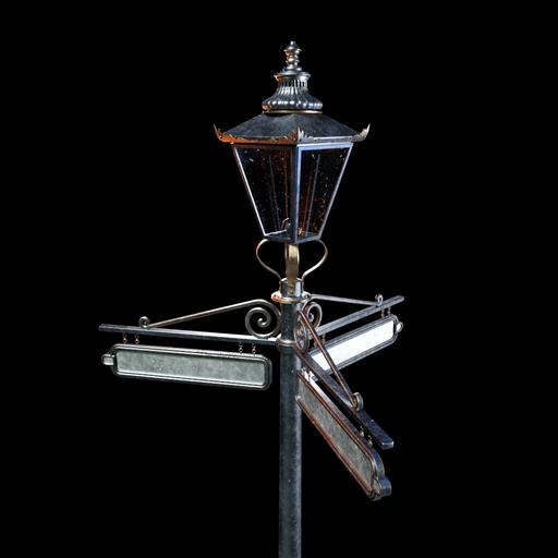 Thumbnail: Vintage Victorian Street Lamp 003