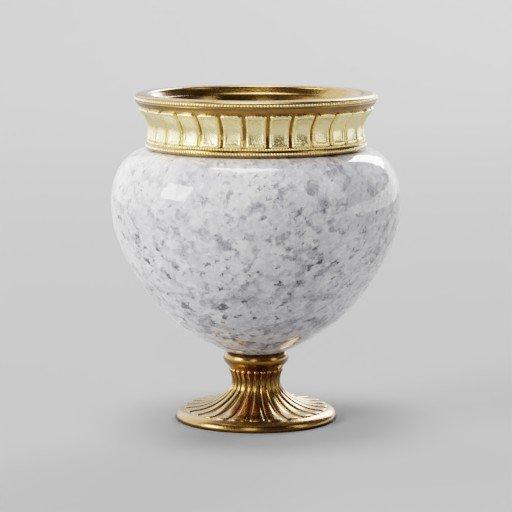 Thumbnail: Bronze Yellow Vase