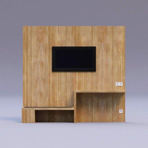 Thumbnail: oak wood TV wall