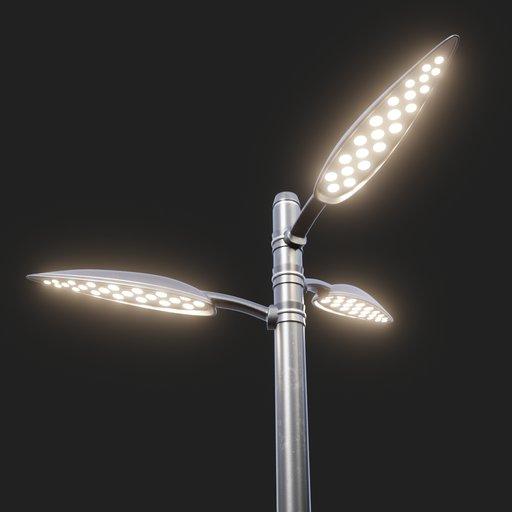 Thumbnail: Modern Street Lamp (tall) #03