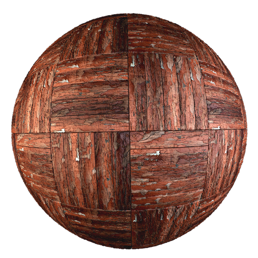 Thumbnail: Old painted parquet - Square Basket pattern