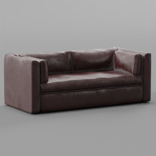 Thumbnail: Red Leather Sofa