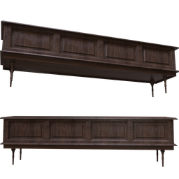 Thumbnail: Wide old wooden cabinet