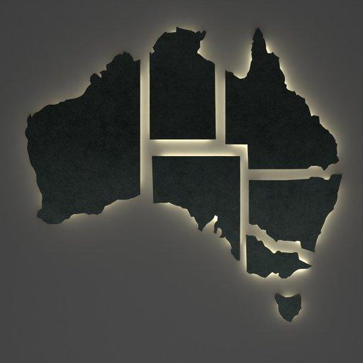 Thumbnail: Australia Exploded Map Wall Decoration