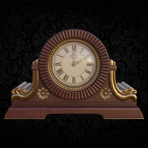 Table clock in classical style