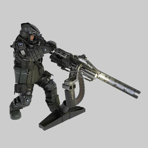 Machine gun operator