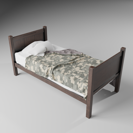 Thumbnail: Simple Single Bed