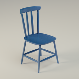 Thumbnail: Blue Wooden Chair