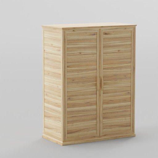 Thumbnail: Wood Plank wardrobe 120x60x160