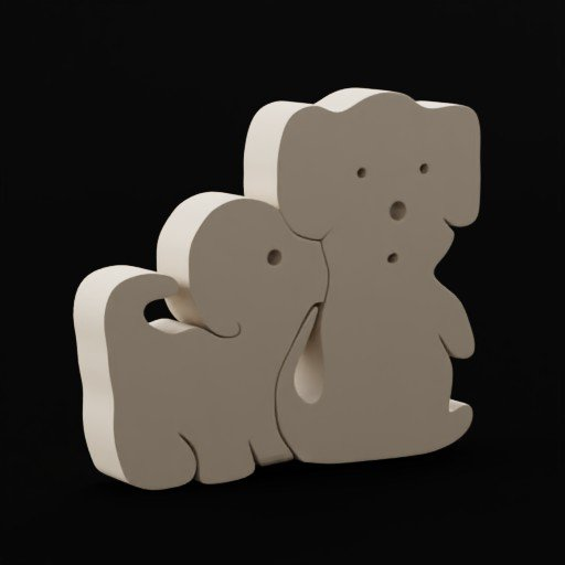 Thumbnail: Wooden toys(dogs2)