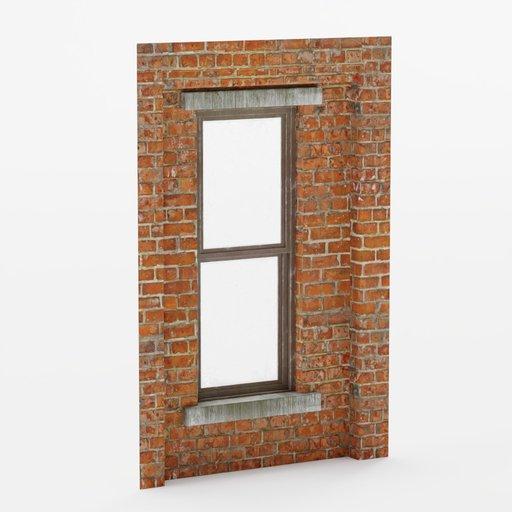 Thumbnail: Wall window inset center top 2x3