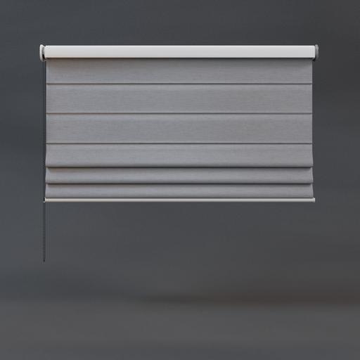 Roman blinds 02 half grey