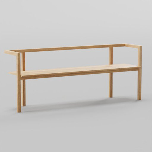 Thumbnail: Minimalist Wood Bench 188x40x75