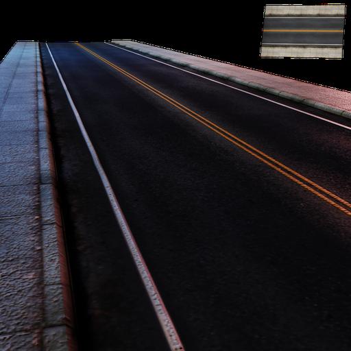 Thumbnail: Street Module 01 - Lowpoly - Straight street Large