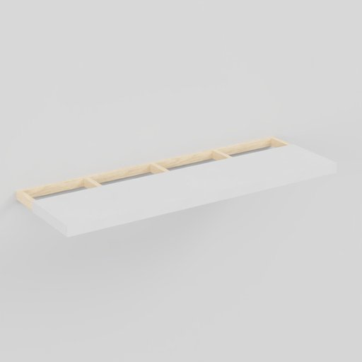 Wood and plastic modern shelf