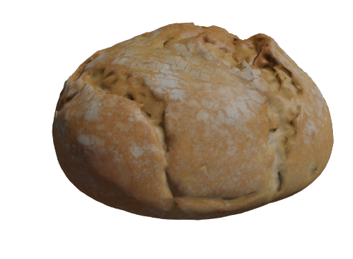 Bread photoscanned