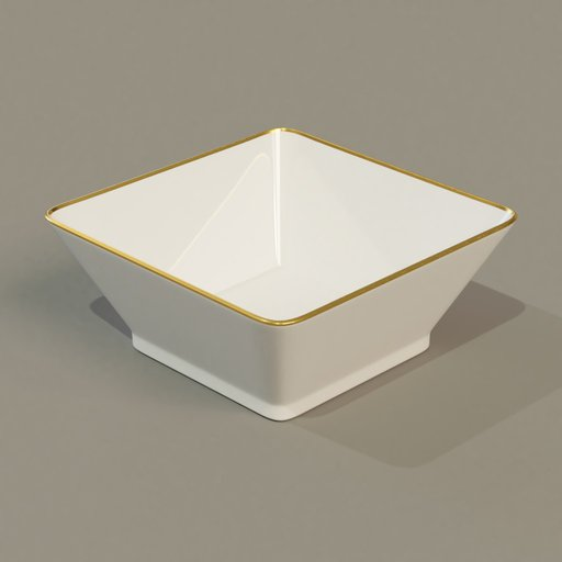Thumbnail: Square bowl gold stripe