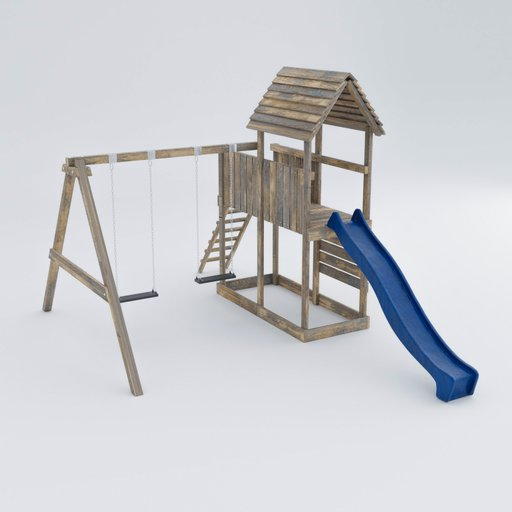 Thumbnail: Kids playground with slide and swing