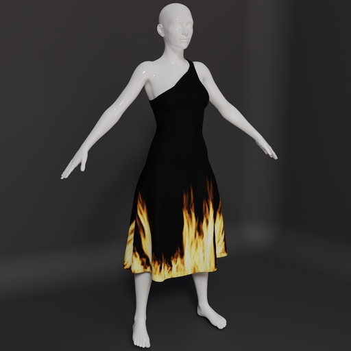 Thumbnail: Flaming dress.