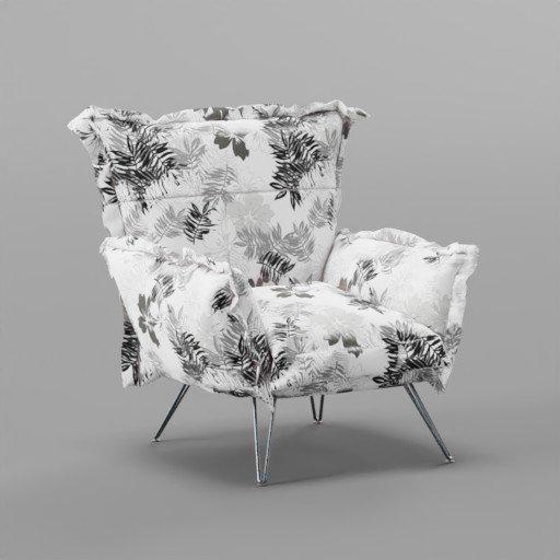 Thumbnail: Fabric pattern arm chair
