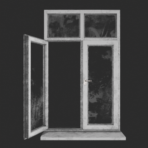 Dirty plastic coating window
