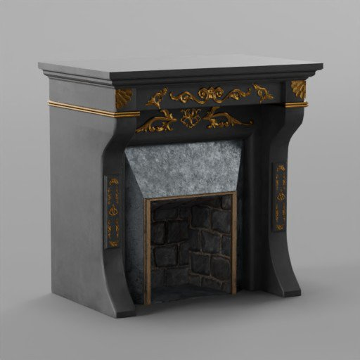 Thumbnail: Black Fireplace
