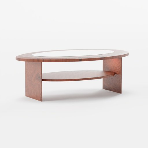 Thumbnail: Wood table with glass