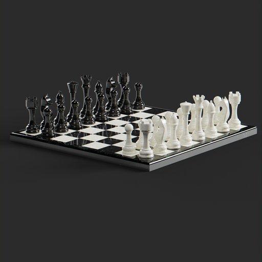 Thumbnail: Marble Chess Set