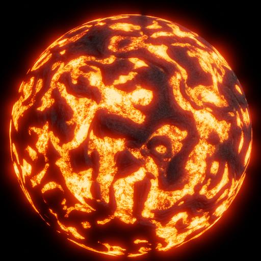Thumbnail: Procedural lava rock
