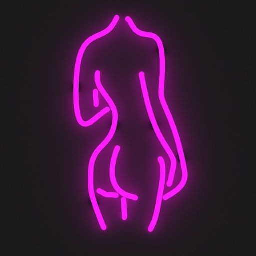 Thumbnail: Pink Curvy Lady Back Neon Sign