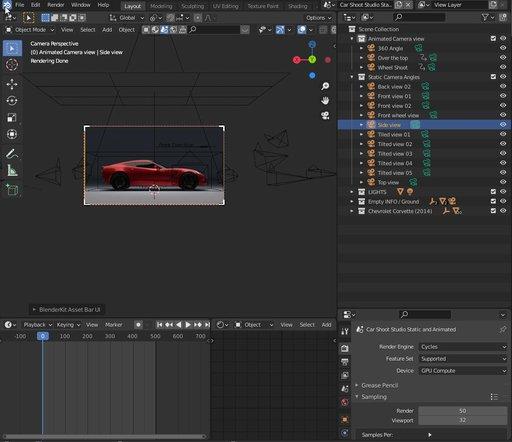 Car Shoot Studio Static and Animated