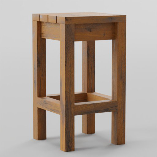 Thumbnail: Wooden Outdoor Bar Stool 40x40x75