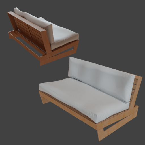 Exterior Wood Chair with Cushions
