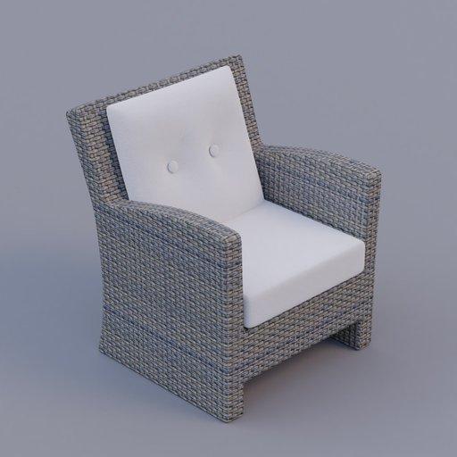 Thumbnail: rattan armchair