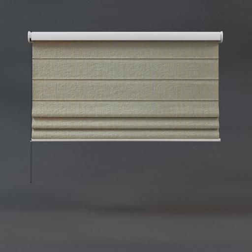 Roman blinds 02 half beige