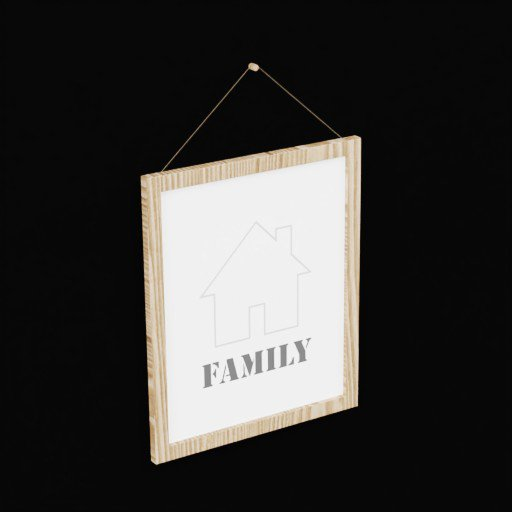 Thumbnail: Wall Hanging Family Quote Picture