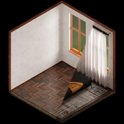 Isometric (hexagonal) room template