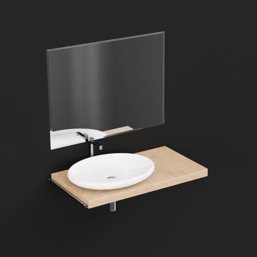 Thumbnail: Bathroom Sink With Mirror