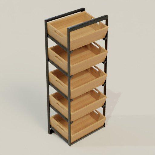 Thumbnail: Rack Shelving Bookcase 61 x 40 x 150