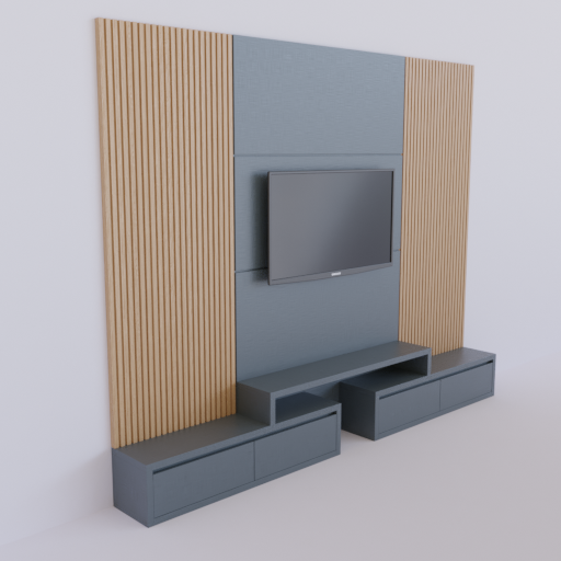 Thumbnail: Wood and Blue Home Theater