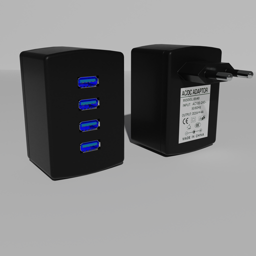 Thumbnail: USB charger 4 port USB power supply. European version.