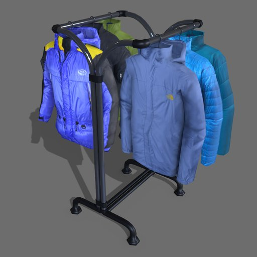 #3 jackets on a hanger