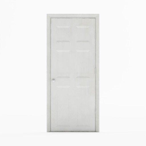 White painted wooden door