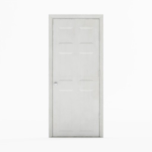 Thumbnail: White painted wooden door