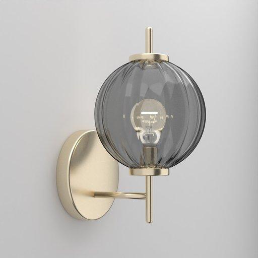 Thumbnail: Glass Wavey Pumpkin Wall Lamp