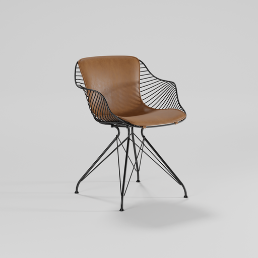 Thumbnail: Wire dining chair 02