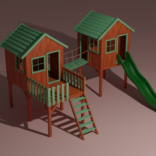 Kids playhouse with a slide