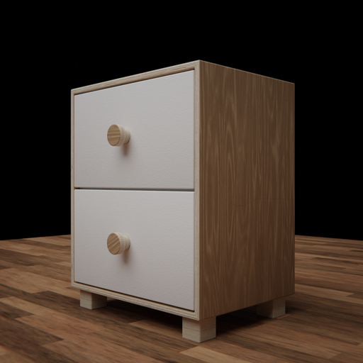 Thumbnail: Bed side table Pinus